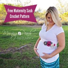 Try this Maternity sash in the bold colors of Modern Baby to make gender reveal photos even trickier. Pattern and tutorial by Katies Crochet Goodies.