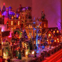 A pretty Christmas village.