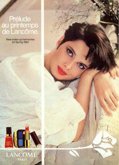 ISABELLA ROSSELLINI FOR  LANCOME PARIS ADVETIDMENT 1984