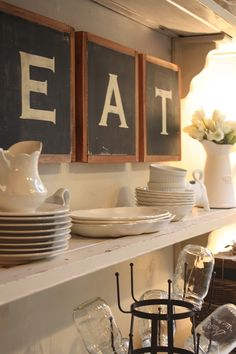 mysweetsavannah: ~e.a.t.~ {in our dining room} LOVE THIS!