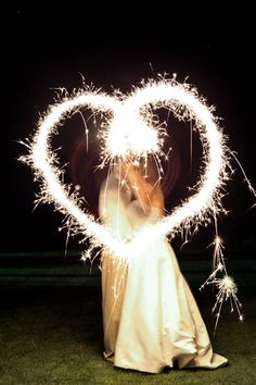 Love the use of sparklers
