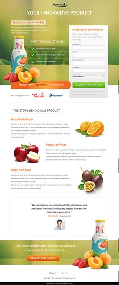 Approach Landing Page Lead Form - Unbounce Conversion Centered Design Template Contest Winner