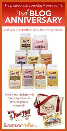 3rd Blog Anniversary Giveaway from Bob's Red Mill