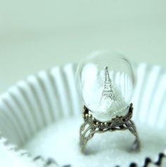 Paris Snow Globe Ring