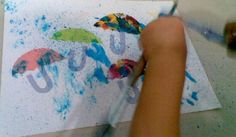painting raindrops with a toothbrush :)