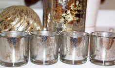 Mercury glass tutorial. Looking glass paint by Krylon, painters tape, spray bottle, vinegar