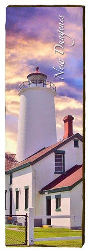 New Dungeness Lighthouse Milled Wood Art
