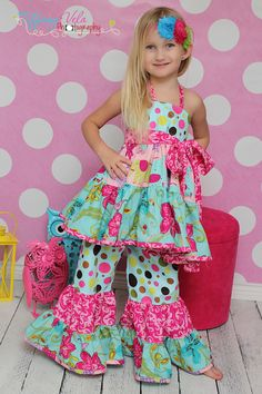 Suzies Twirly Halter Top and Dress PDF Sewing Pattern by Create Kids Couture