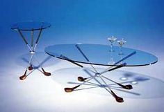 Tables made from Golf Clubs