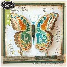 Sizzix Tutorial | Dimensional Butterfly Card by Anna-Karin Evaldsson