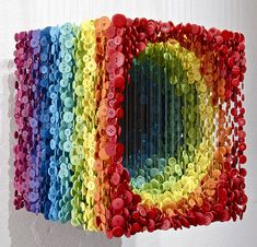 Impressive 3D Sculptures Made of Suspended Sewing Buttons
