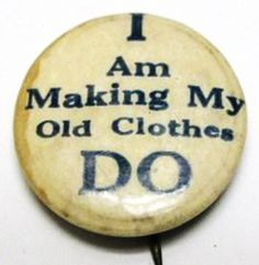 Barbara Brackman's MATERIAL CULTURE button from ww1 | Vintage badge | Wartime