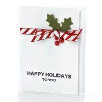 Striped Happy Holidays Card by @Kimberly Kesti