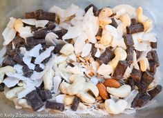 Paleo Trail Mix:  This one is awesome because it literally takes no time to cook or prep or really anything.  It's just a matter of getting the ingredients and mixing them together.  This is perfect for anyone who is looking to start a paleo diet.