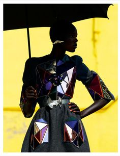 Ajak Deng in Chanel for latest edition of Obsession Magazine by Julia Noni, 2012.
