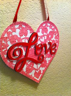 Obsessed with Scrapbooking: How to Make An Easy Valentine's Door Sign!
