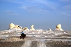 White Desert, Africa - North of Farafra with the eerie arctic-like rock formations of White Desert