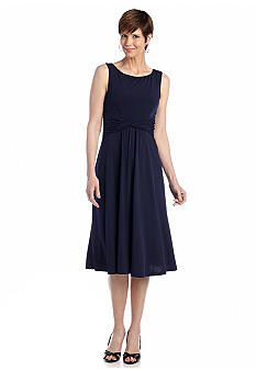 Laura Jeffries Sleeveless Fit and Flare Dress