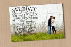Save the date wedding announcement you print by yellowlemons, $15.00