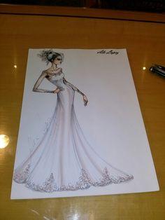 Fashion drawning .desenho de moda .debujo .bride dress