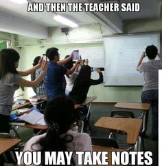 A different way to take notes in a BYOD classroom