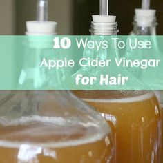 Mix 1 part ACV into 1 part warm,filtered tap water. Apply the vinegar rinse after shampooing, then rinse it out. For extra conditioning, you can leave the rinse on hair for a minute or two.  This can be used once a week or as needed.