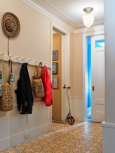 Cement tile for a mudroom | Get a Mudroom Floor That's Strong and Beautiful Too