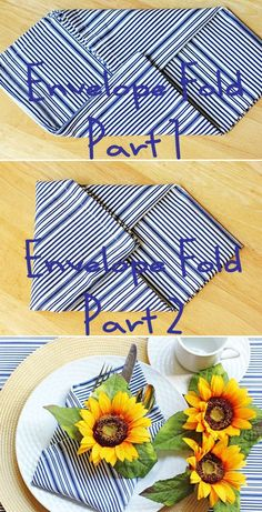 Envelop fold napkin.