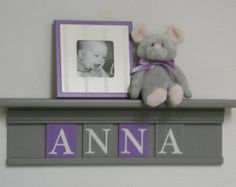 gray and purple nursery ideas - Google Search