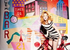 Celebrity Bike Style With Drew Barrymore