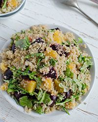 Quinoa Salad with Oranges, Roasted Beets and Arugula Recipe on Food ...