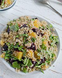 Quinoa Salad with Oranges, Roasted Beets and Arugula Recipe on Food ...