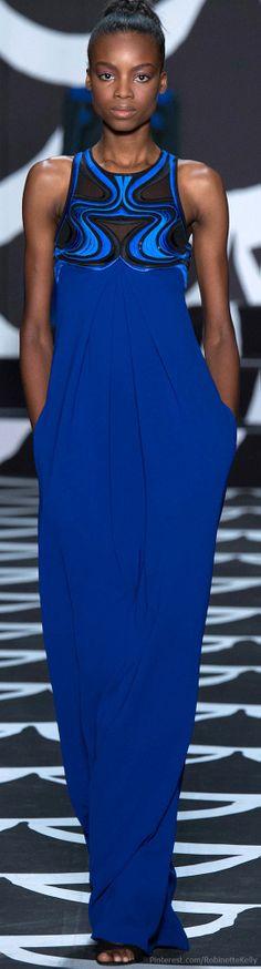 Diane von Furstenberg   Fall 2014 RTW party dresses, blue, gown