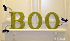 """Boo""tiful Yarn Wrapped Letters"