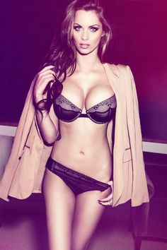 fashion, model, sexi, black lingerie, beauty, betsey johnson, tap, coat, eye