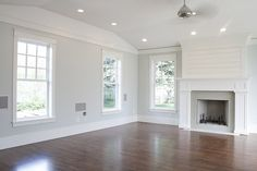 Pretty paint color and fire place