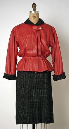 Suit, Bonnie Cashin, 1953-57, American, leather and wool