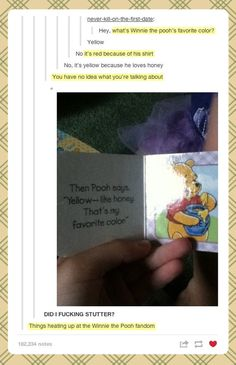 Pooh's favorite color…