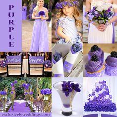 Purple Wedding Color | #exclusivelyweddings
