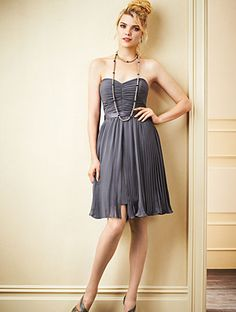 Alfred Angelo Bridesmaid Style 7271S in Charcoal