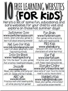 Educational kid's websites kids learning, activities for kids, kid idea, school idea, education kids