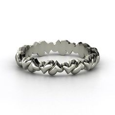 Band of Hearts, Sterling Silver Ring from Gemvara