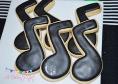 Cookies at a Rock Star Party #rockstar #partycookies