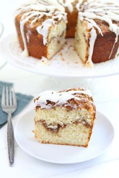 Yogurt Coffee Cake w/ Cinnamon Streusel from @Maria Canavello Mrasek (Two Peas and Their Pod)