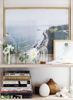 love this little nook.  (Enlarge + frame your travel photos = instant art)