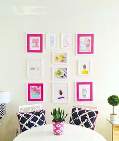 Apartment gallery wall ideas and how to hang art in a small space.
