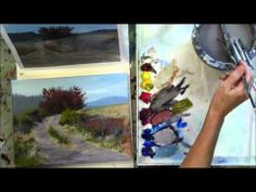 """The Red Tree"" Part 8 - Beginning Step by Step Acrylic Country Road Landscape Painting Demo - YouTube"