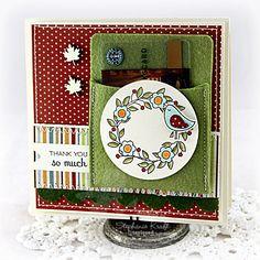 card idea, gift card, card inspir, pocket card, card holder