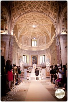 San Pietro in Montorio in Rome, ph Infraordinario http://www.brideinitaly.com/2013/01/real-wedding-crafty-chic-per-amanti.html #italy #wedding #catholic #church