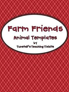 This is an adorable way to extend your learning about the farm and farm animals.  It makes adorable bulletin boards too!There are templates for 6...